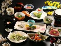 ≪スタンダートプラン≫春の一例。信州の旬の食材の味を活かした料理の数々。