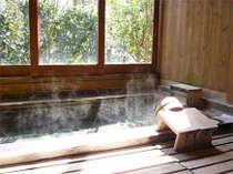 【貸切露天風呂】檜の香りに包まれて、まるで森林浴をしているような気分になれる!