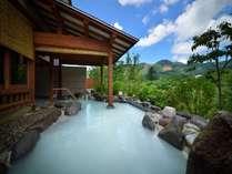 ■「離れ湯 百八歩」露天風呂/乳白色のいおう泉「離れ湯百八歩」の露天風呂