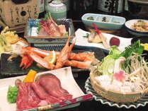 <夏>牛タンと和牛の食べ比べやズワイガニが付いた会席