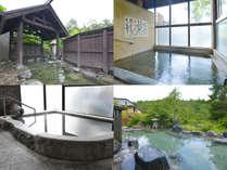3つの源泉・8つのお風呂。珍しい混浴露天風呂は、女性専用時間もございます。