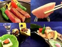 【和歌山ご当地グルメ×串本黒鮪×熊野牛×クエを食す】和食会席18:00~3種類から選べるお土産付♪