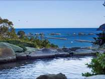 【太平洋を望む温泉露天風呂】夜は星空を眺め、朝は水平線を眺めながら本州最南端で日の出をご覧ください。