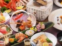 夕食のイメージです。季節・仕入れ状況により素材が変わります。