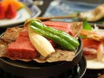 とろける美味しさ『飛騨牛ステーキ』旬の食材とご一緒にお楽しみください。