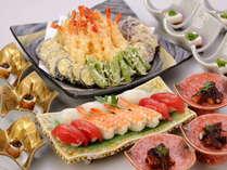オールデイダイニングコラーロの夕食ブッフェは和食も豊富にお楽しみいただけます。