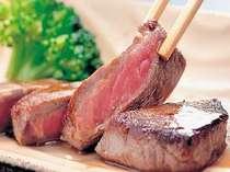 焼き加減も丁度いい岩手県産牛ステーキ料理例.