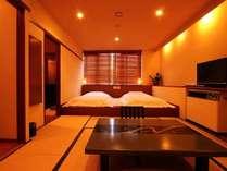 ☆-花簪- ベッドはシモンズ製のマットレスを使用しています。ごゆっくりお寛ぎください♪