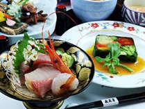 ☆彩り鮮やかに…海の恵み三点盛りと春野菜の一品