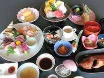 地魚を中心に地野菜や常陸牛など、茨城自慢の美味しい旬の食材を盛り込んだ黒潮膳イメージ