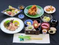 暖流寒流が交わる日立沖の海の幸と、原風景が魅力の茨城県北山の幸。茨城を味わう!海づくし料理イメージ
