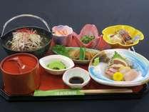 はぎ屋オリジナル「常陸牛コラーゲン鍋」プラン 夕食料理イメージ