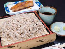 *【夕食一例】常陸太田が誇るブランドおそば、『常陸秋そば』を使用した二八そばをご提供いたします。