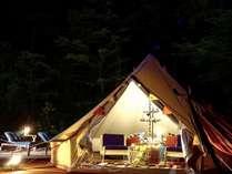 グループでもカップルでもお楽しみいただけるグランピングテント