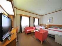 デラックスツイン(MT)29平米。シーリー社製ベッド使用。10階建て9階10階のお部屋。線路側。