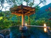 自然の美しい風景に清々しさを感じながら、自慢の露天風呂に浸かれば、どんなストレスだって解消。