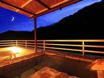 客室露天風呂から望める景色。