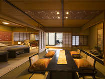 和室+ベッドルーム+ダイニングルーム+源泉かけ流し露天付の特別室-BENGARA-