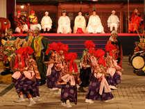 7月の最終土日に行われる「大田楽」。当館の客室からもご覧いただけます