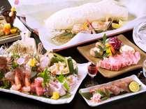 能登牛と地物の白身魚を塩釜焼で楽しめる特別料理「能登牛地魚懐石」