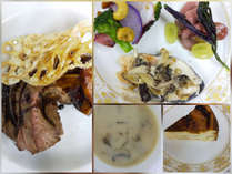 夕食は牛肉料理をメインに、季節の野菜や地物食材など、山形ならではの味をお楽しみください。