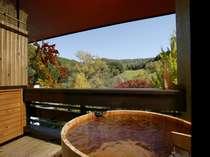 ◆【秋】露天風呂付客室一例◆