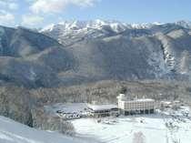 ◆【冬】ホテルサンバード外観(藤原スキー場)◆