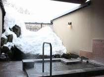 11種類から選べる雪見貸切露天風呂一例「鼓の湯」
