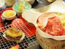 ◆Wメイン!「アワビステーキ」と「上州牛&上州麦豚のしゃぶしゃぶ」◆