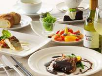 併設レストランでのコースディナー☆要予約☆イメージ画像です。