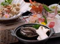 柔らかくて美味しい~鮑の陶板焼き、金目鯛の煮付けなど堪能できるお献立を月替りでお届け♪(基本プラン)