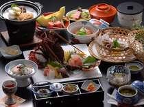 【伊勢海老】【アワビ】【金目鯛】豪華人気食材を食す料理写真(お刺身は2名様盛)
