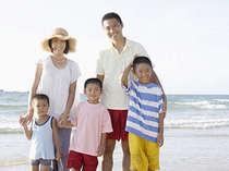 ビーチまで徒歩10秒の熱川館では家族での海水浴旅行を応援します。子連れに大人気!