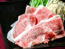 きめが細かくやわらかい上質の霜降り肉を贅沢にしゃぶしゃぶでいただきます。