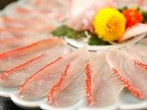 金目鯛と地魚の薄造り※2-3名盛りのイメージ※実際は1名様につき1皿の個人盛り
