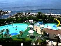 【夏季屋外プール】夏はやっぱりプール!たっぷり遊んだら温泉で湯ったり♪
