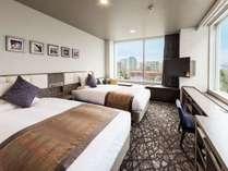 スタンダードツインルーム<21平米ベッド幅110×2台>(1~2名)※角部屋のご指定はお受けできません。