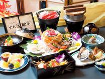 *お夕食一例/料理長渾身の飾り切りが美しい、華やかな会席料理をご用意いたします。