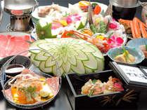 *お料理一例/まるで宝石箱のように華やかな会席料理。料理長のおもてなしの心がつまっています!