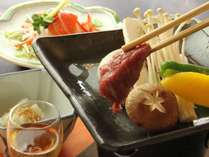 信州の食材をふんだんに利用した夕食の一例
