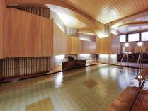 【大浴場】地下1階にある大浴場で檜の香りをお楽しみいただけます。(IN~0時女性/0時~OUT男性)