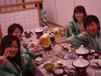 【女子会】美肌湯につかった後にはおいしいお料理とお酒♪