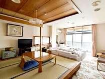 【和洋室】4.5畳+ベッド2台小上がりあり、眺望有
