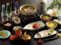 【ヘルシー美食会席】コラーゲンたっぷりのすっぽん鍋をメインとした会席料理※イメージ