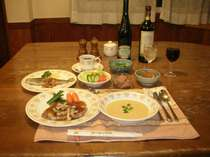 コース料理のディナー※日替わりになります。