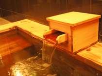 天然温泉を満喫していただける檜風呂