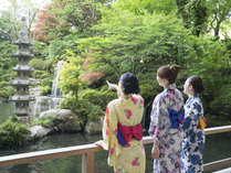 ゆかたを着て日本庭園をお散歩♪