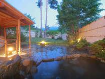 常念岳をのぞむ絶景の露天風呂もリフレッシュいたしました。
