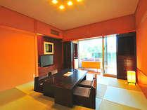 和モダンがおしゃれな和室。高めの座椅子で足も楽々。