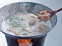 長州鶏のつみれと旬野菜のみぞれ鍋